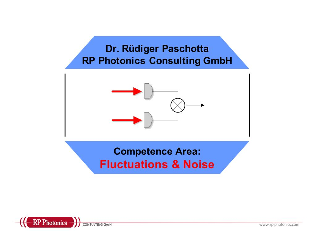 Dr. Rüdiger Paschotta RP Photonics Consulting GmbH Competence Area: Fluctuations & Noise