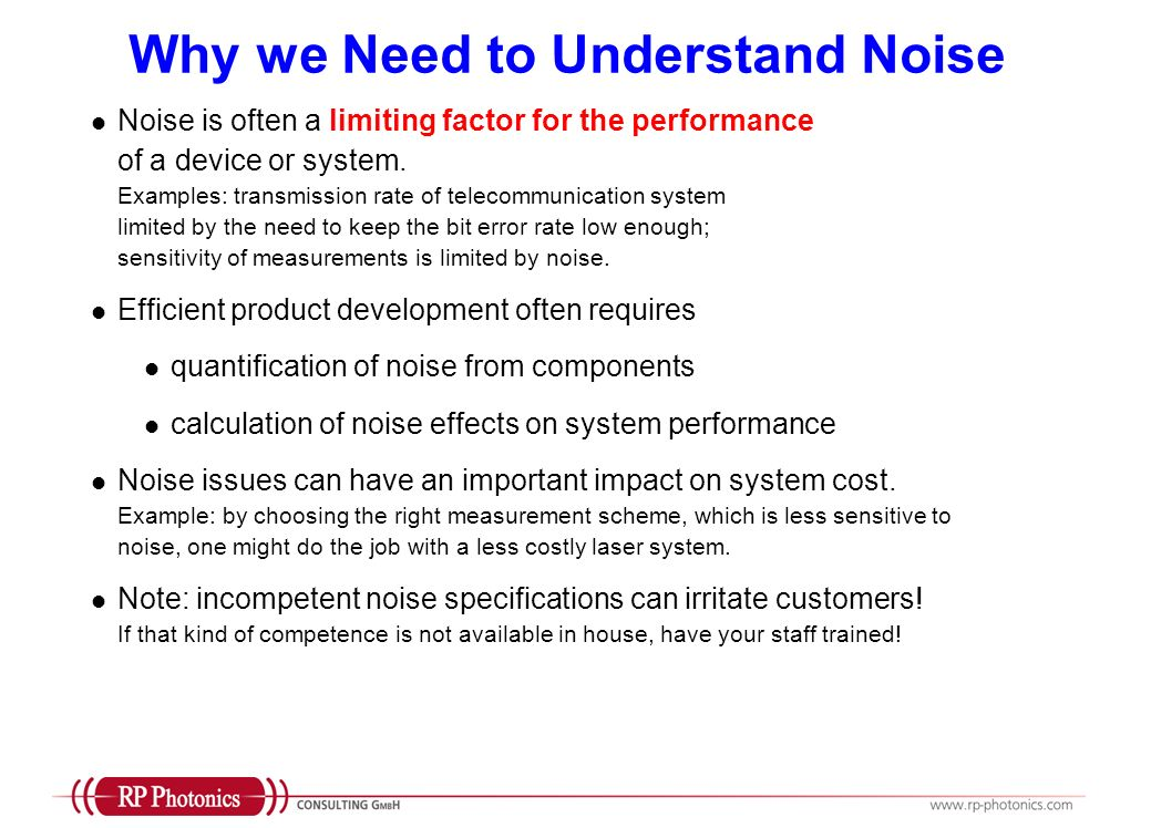 Feedback Systems for Noise Suppression Examples for possible consulting activities: Design or check an electronic feedback system for the stabilization of an optical power Help to optimize the performance, considering control elements, optimized frequency response of feedback electronics, possible feed- forward schemes, etc.