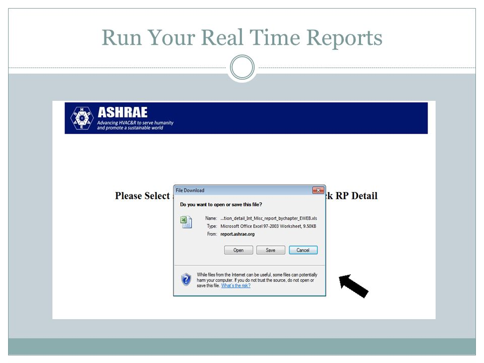 Run Your Real Time Reports