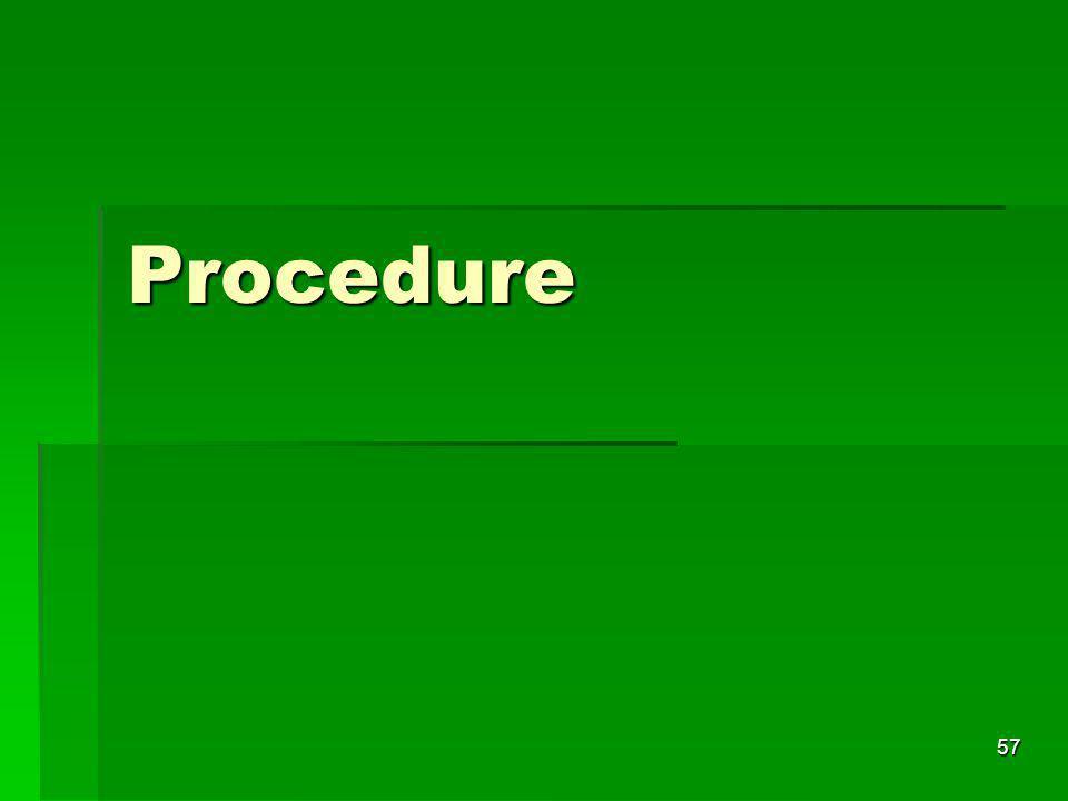 Procedure 57