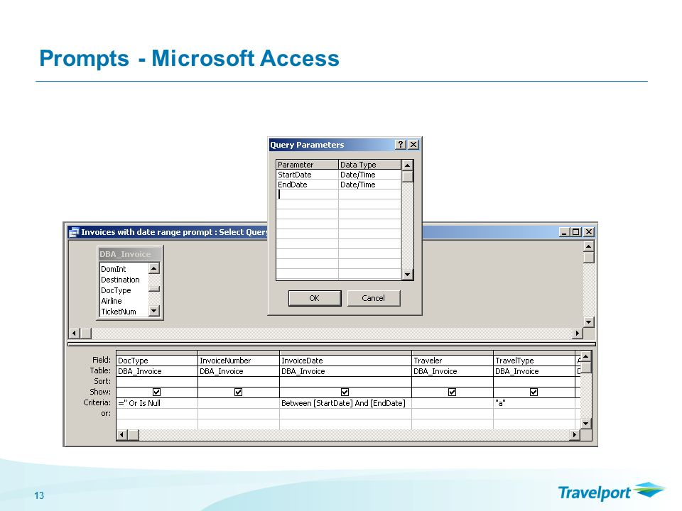 13 Prompts - Microsoft Access