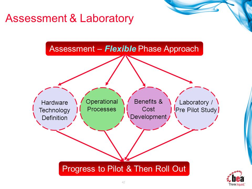 42 Assessment & Laboratory Hardware Technology Definition Operational Processes Benefits & Cost Development Assessment – Flexible Phase Approach Labor