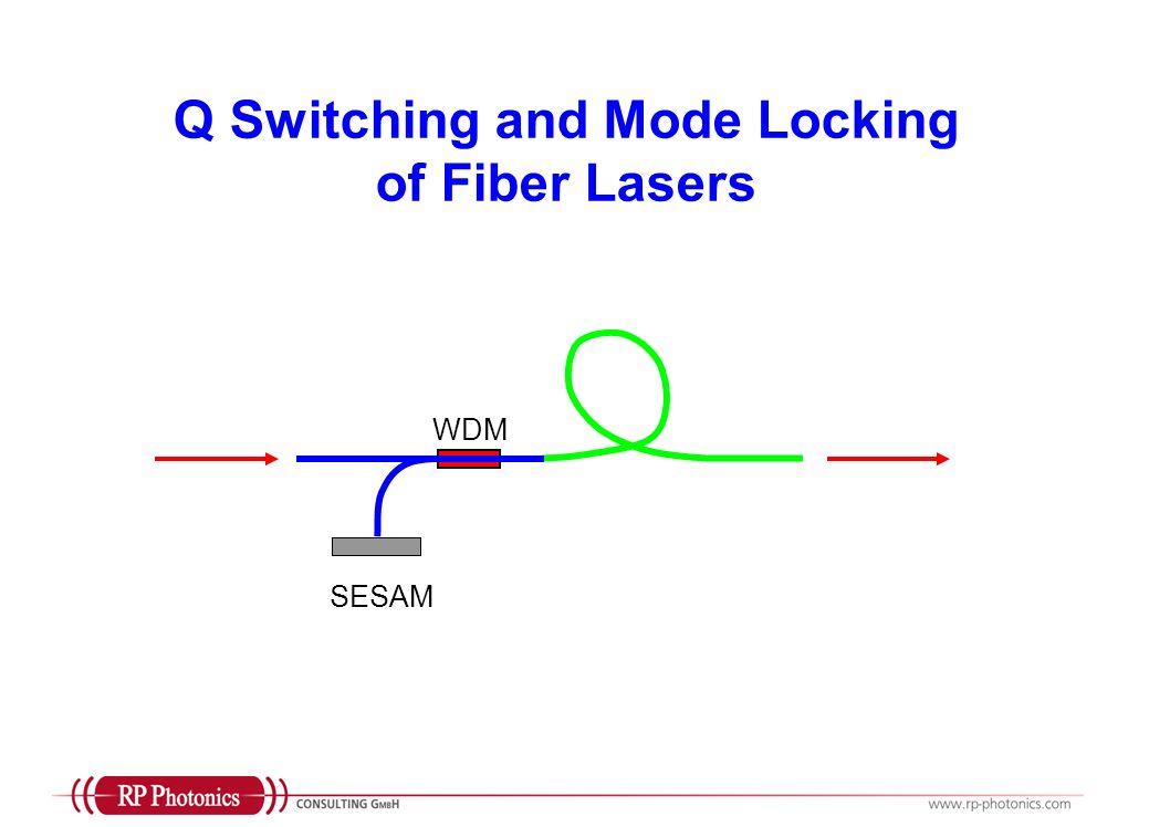 Q Switching and Mode Locking of Fiber Lasers SESAM WDM