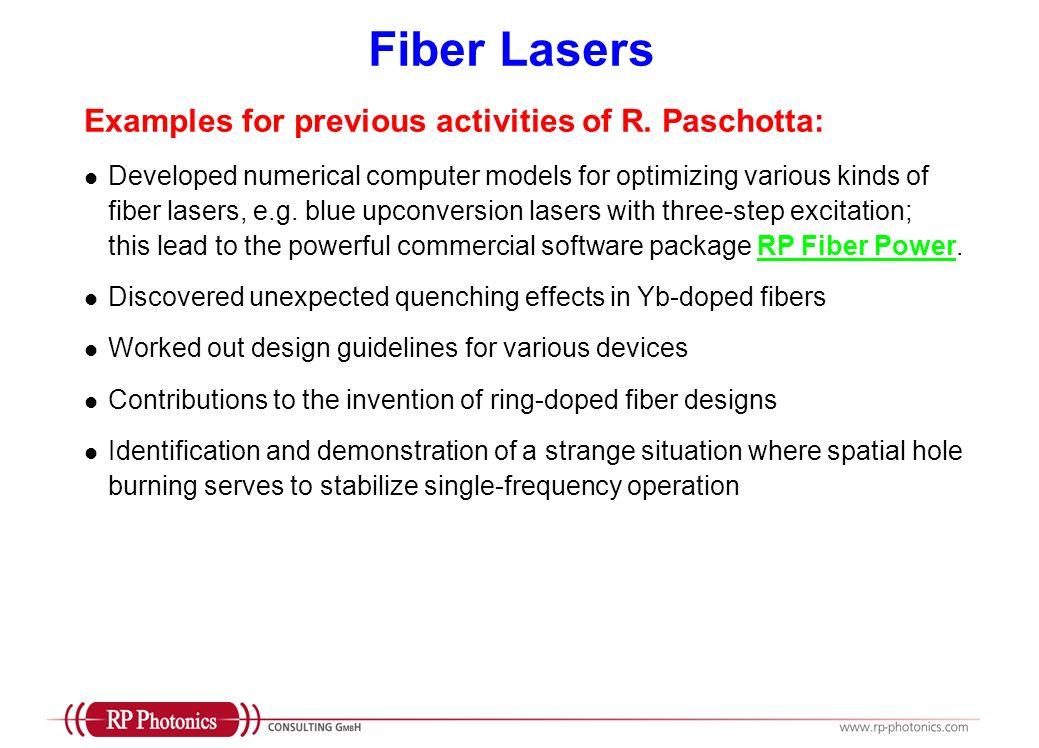 Publications on Fiber Technology Books: R.