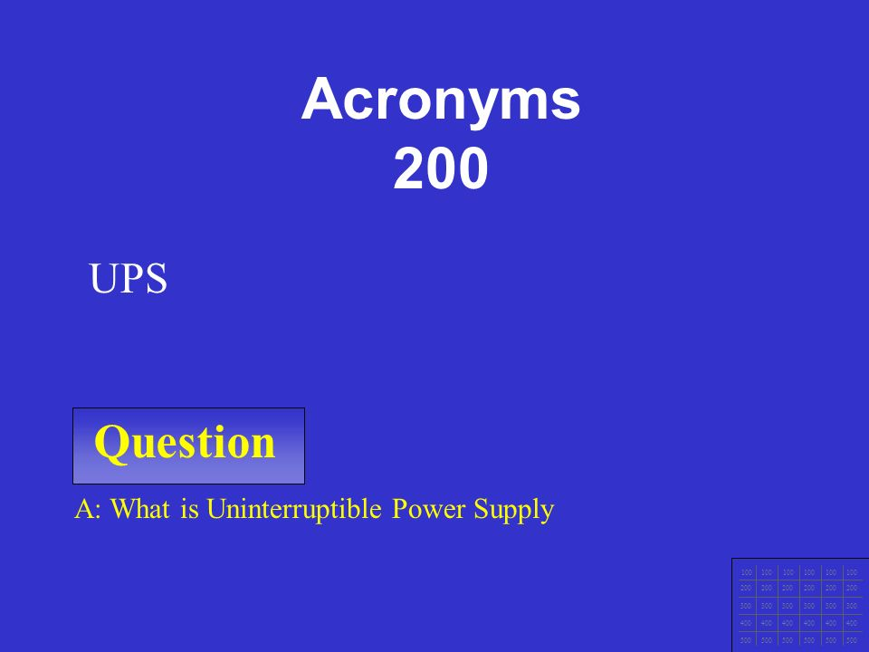 IT Ess I v.4x Chapter 1 Question 100 200 300 400 500 A: What is Electrical Static Discharge.