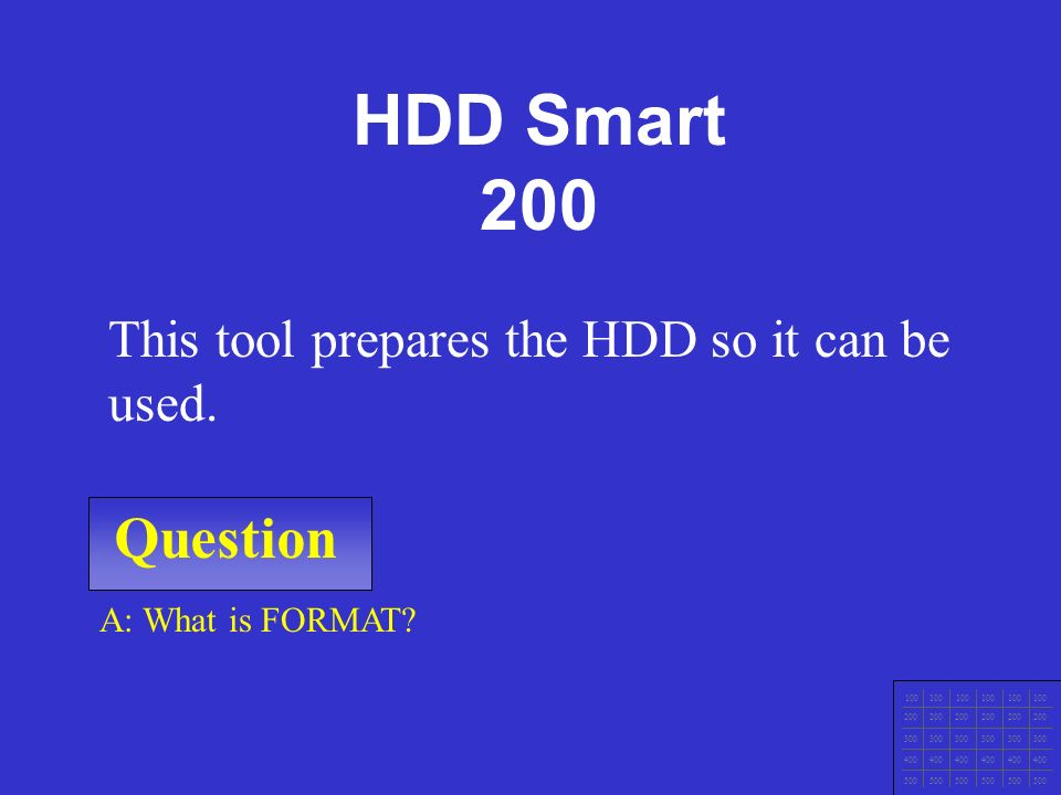 IT Ess I v.4x Chapter 1 Question 100 200 300 400 500 A: What is fdisk.