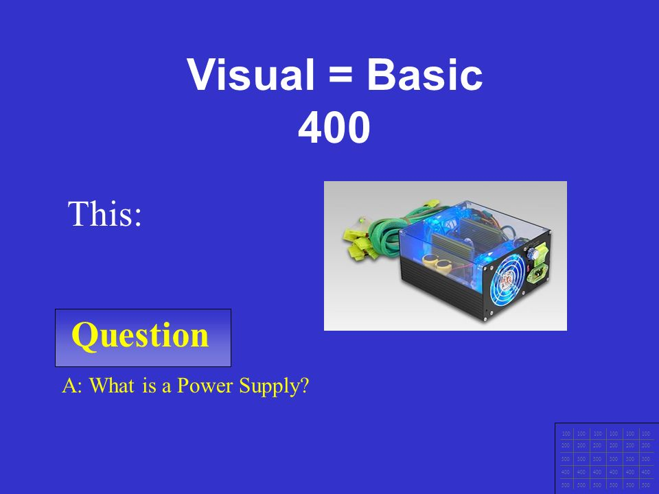 IT Ess I v.4x Chapter 1 Question 100 200 300 400 500 A: What is a CD or DVD Drive.