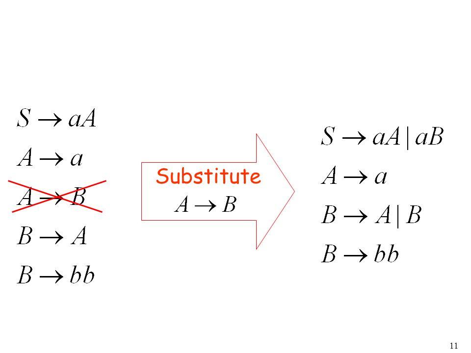 11 Substitute