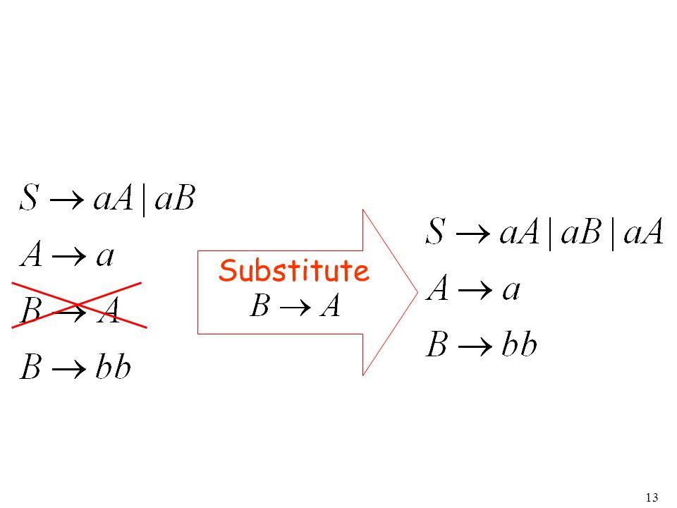 13 Substitute