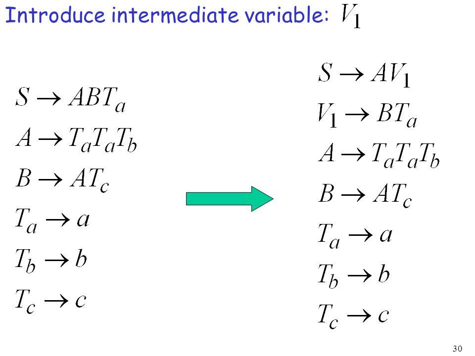 30 Introduce intermediate variable: