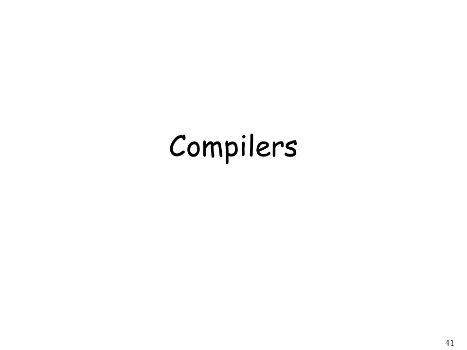 41 Compilers