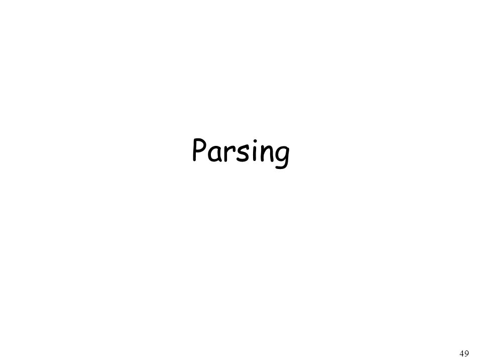 49 Parsing