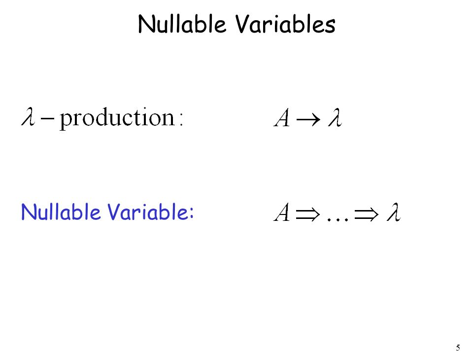 5 Nullable Variables Nullable Variable:
