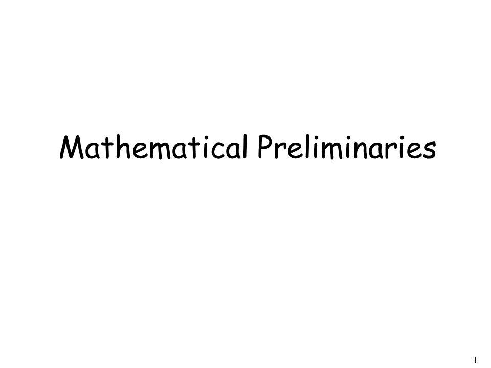 1 Mathematical Preliminaries