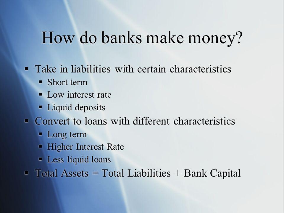 How do banks make money.