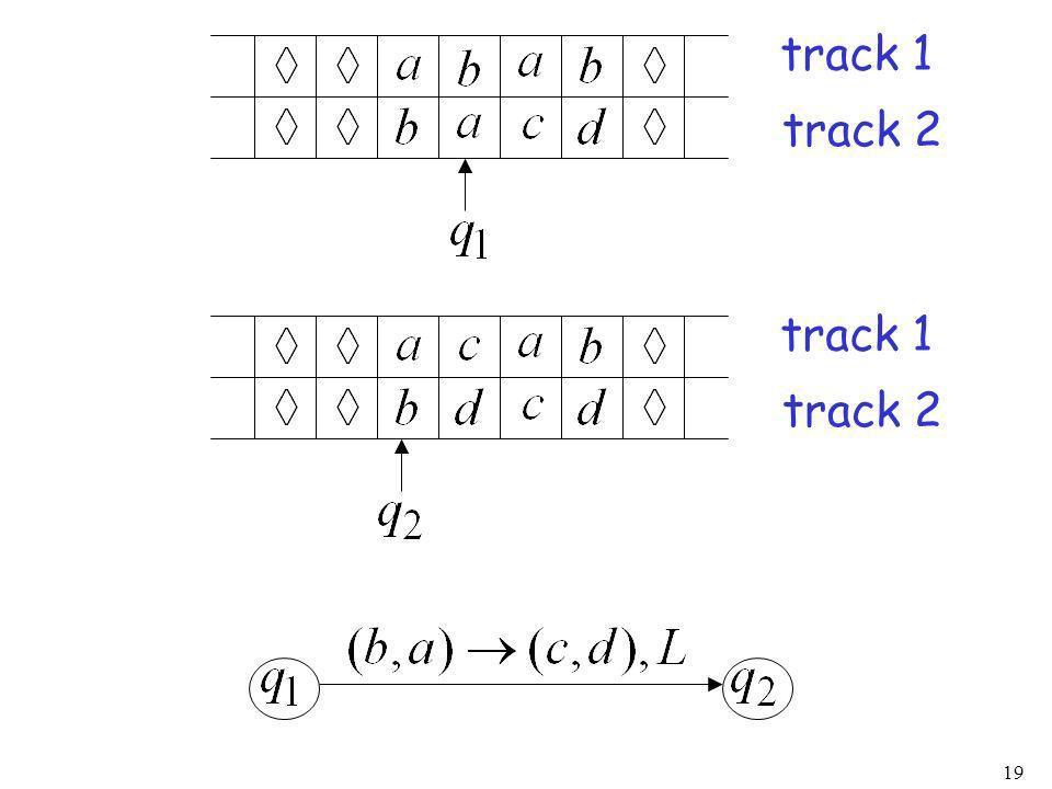 19 track 1 track 2 track 1 track 2