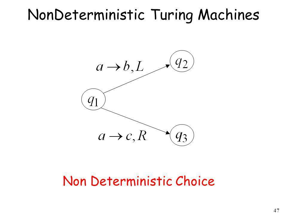 47 NonDeterministic Turing Machines Non Deterministic Choice