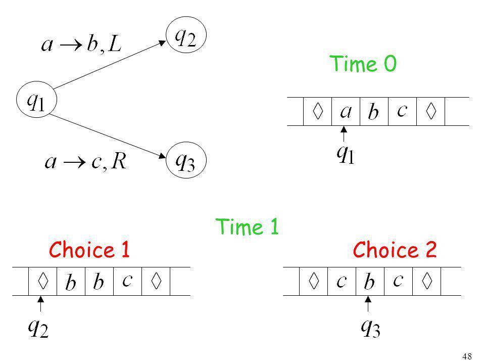 48 Time 0 Time 1 Choice 1 Choice 2