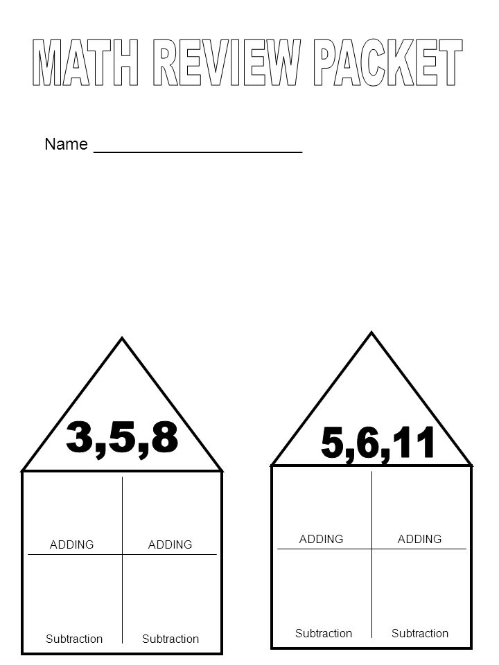 ADDING Subtraction ADDING Subtraction Name _______________________