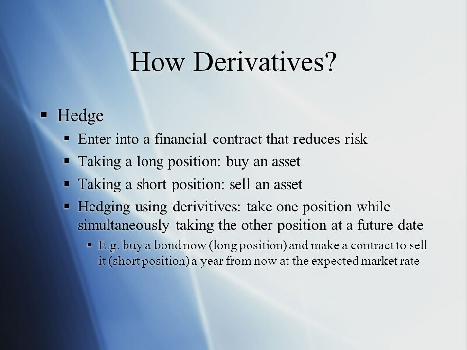 How Derivatives.