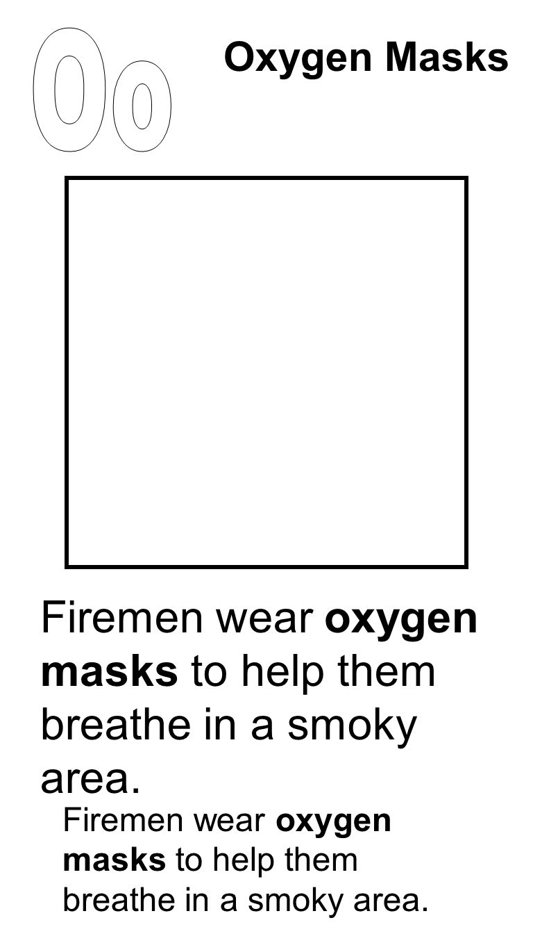 Firemen wear oxygen masks to help them breathe in a smoky area. Oxygen Masks