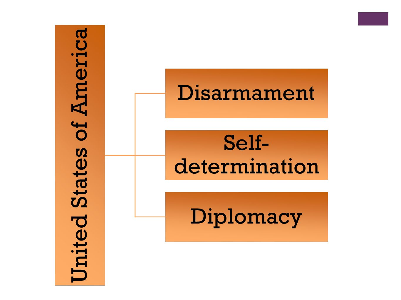 United States of America Disarmament Self- determination Diplomacy