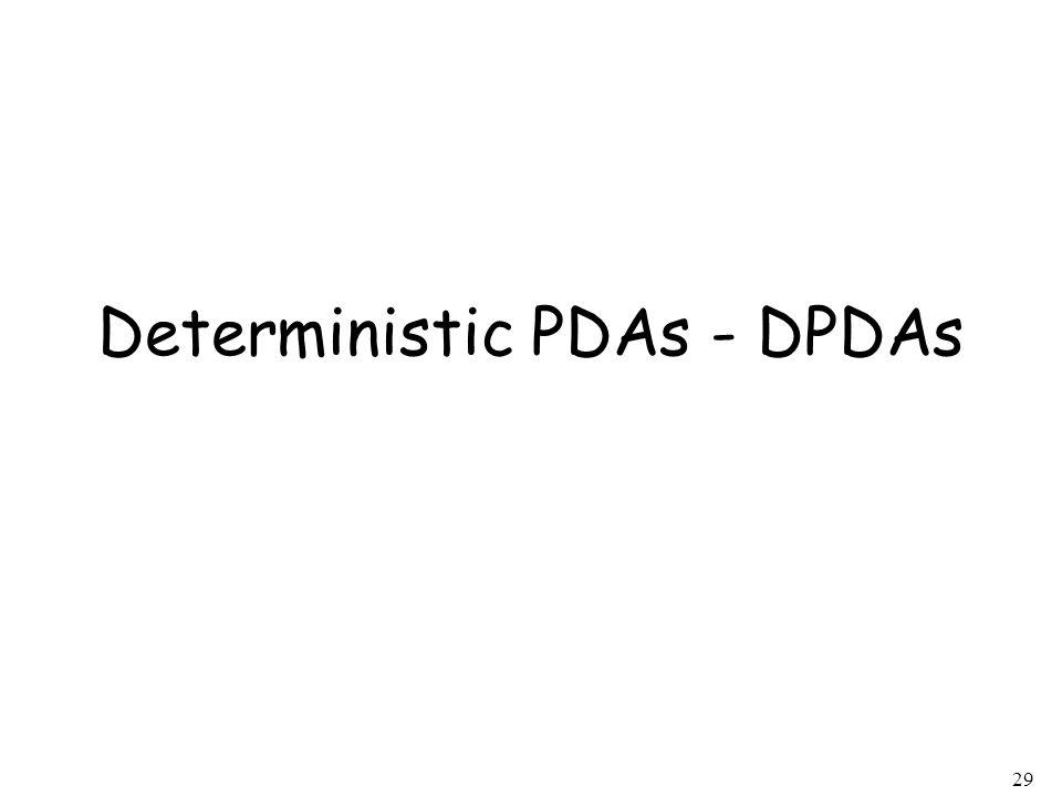 29 Deterministic PDAs - DPDAs