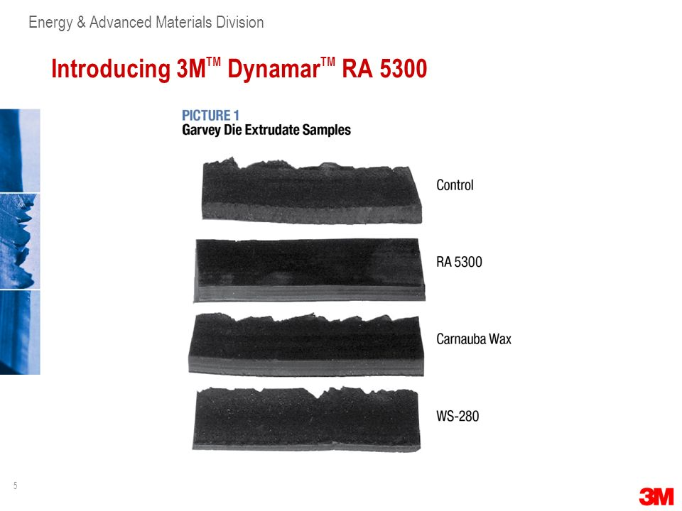 5 Energy & Advanced Materials Division Introducing 3M TM Dynamar TM RA 5300