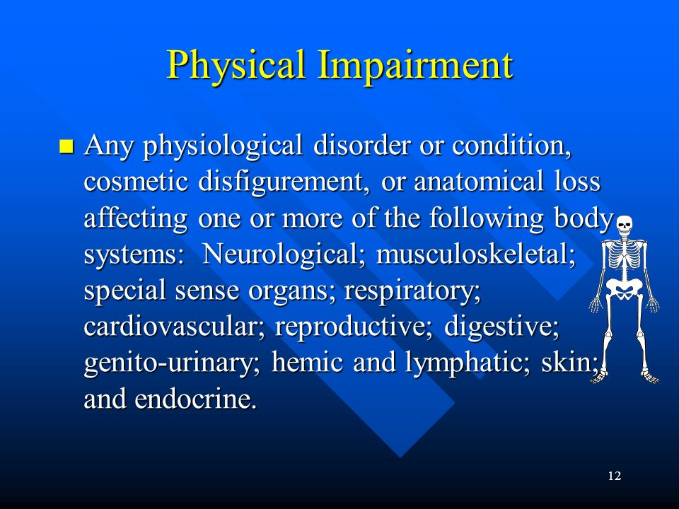 11 Element One How Is Disability Defined.