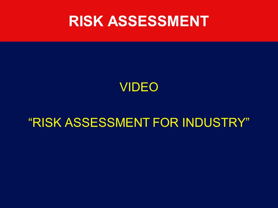 REGISTER Each operational centre must create a register for registering and controlling Risk Assessments See later.