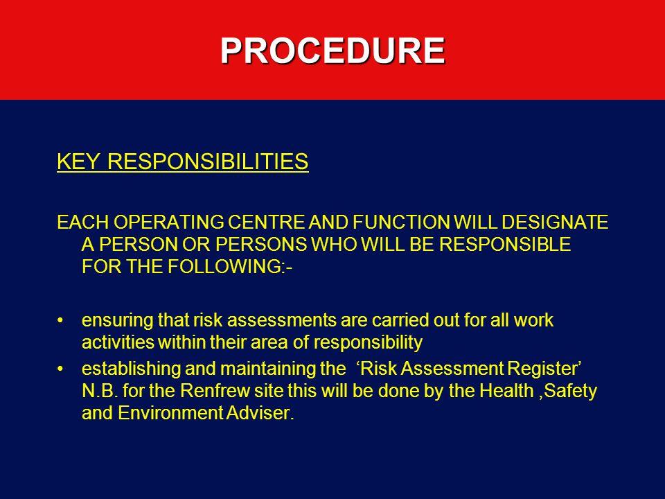 DO A RISK ASSESSMENT PRACTICAL EXCERCISE