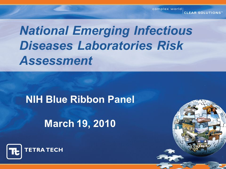 National Emerging Infectious Diseases Laboratories Risk Assessment 1 NIH Blue Ribbon Panel March 19, 2010