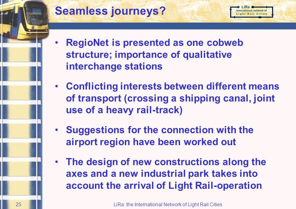 LiRa: the International Network of Light Rail Cities24 Regio-express Boom-Brussels