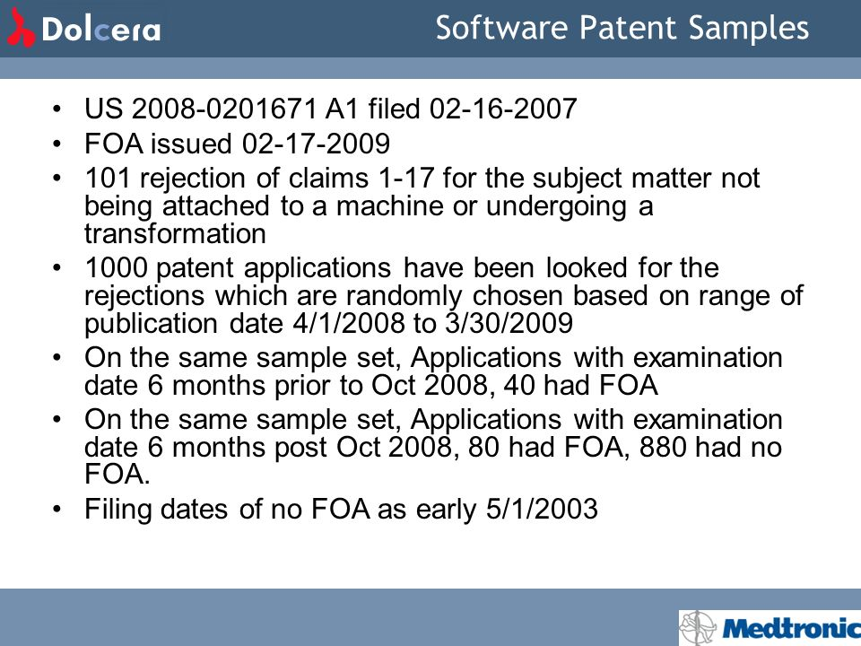Software Patent Samples US 2008-0201671 A1 filed 02-16-2007 FOA issued 02-17-2009 101 rejection of claims 1-17 for the subject matter not being attach