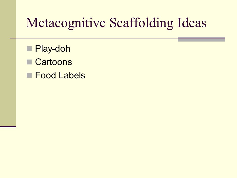Metacognitive Scaffolding Ideas Play-doh Cartoons Food Labels