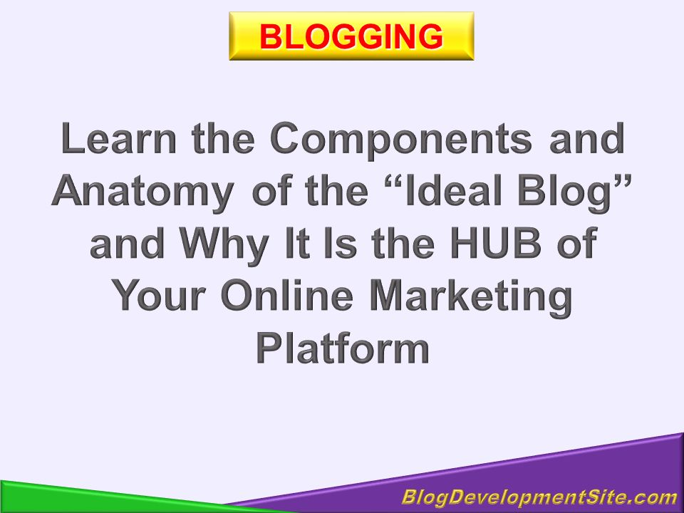Your Product Your Top Links Your Blog - The HUB of Your Internet Existence