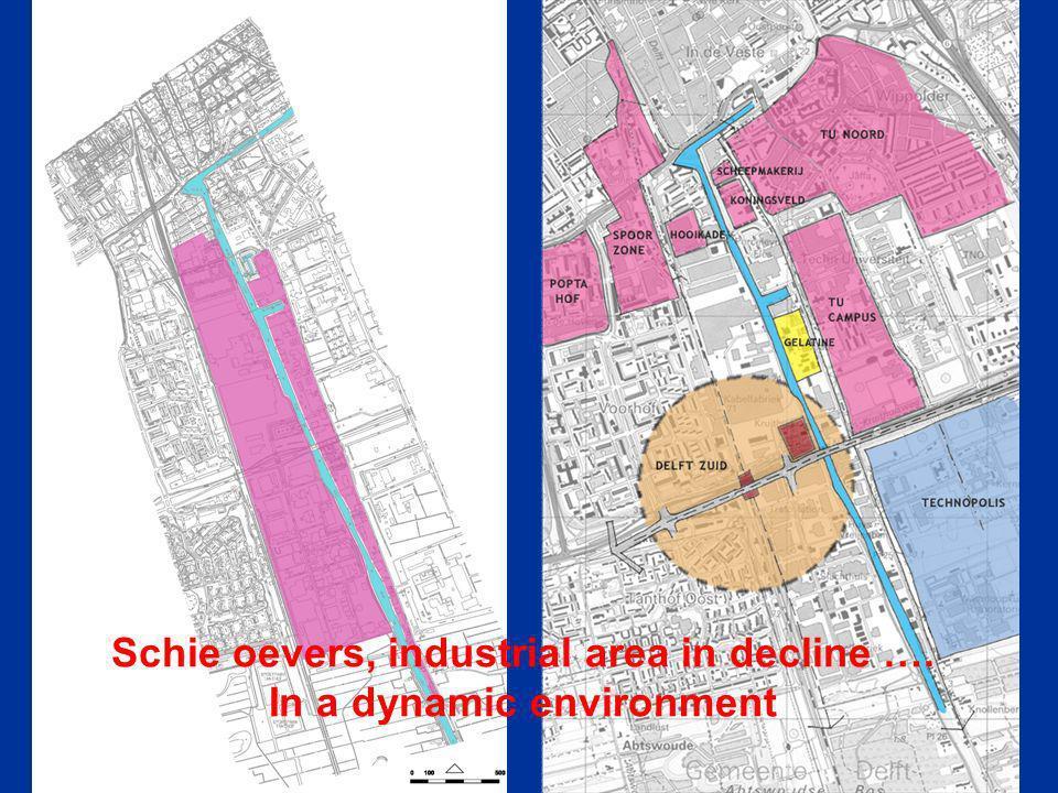 Delft Zuid / Schie oever and Delft techno-complex (university, Technopolis, TNO)