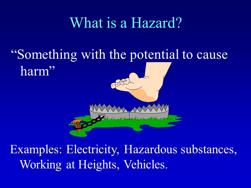 What is Risk? The likelihood of harm resulting from a hazard Risk = Severity x Probability