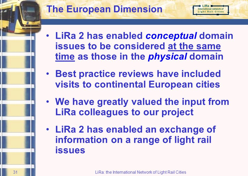LiRa: the International Network of Light Rail Cities30 Virtual Reality Model (4)