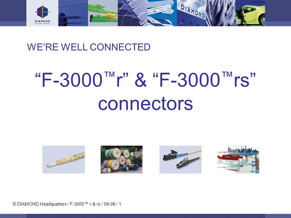 © DIAMOND Headquarters / F-3000r & rs / 09-08 / 12 Specifications MM PCSM PCUnitsTest conditions Insertion Loss (IL) typ 0.25 max 0.5dBIEC 61300-3-4 Return Loss (RL) min 40 min 50dBIEC 61300-3-6 Repeatability of IL max +/- 0.15dB IEC 61300-2-2 Service life min.