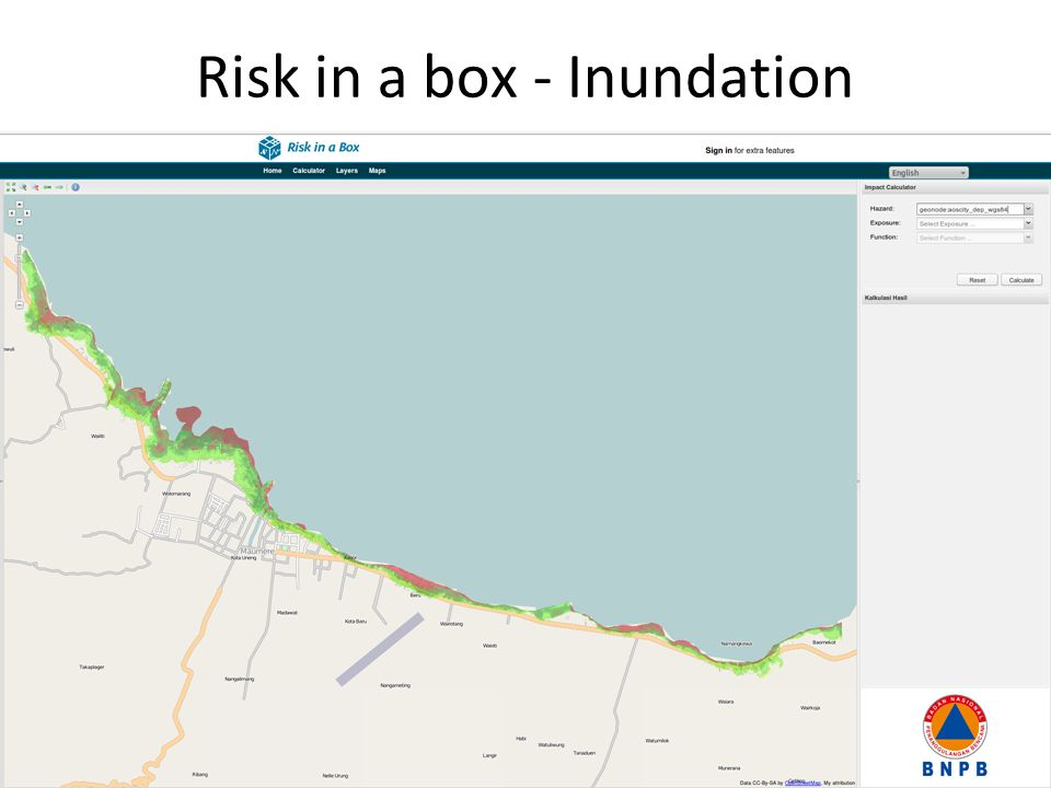 Risk in a box - Inundation