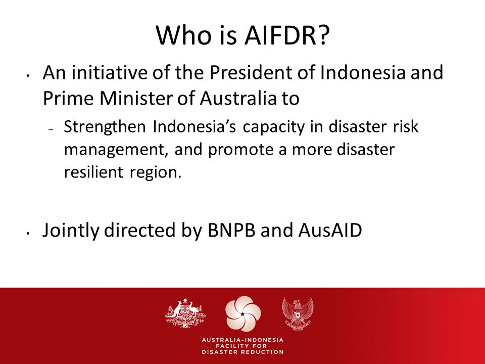 Who is AIFDR.