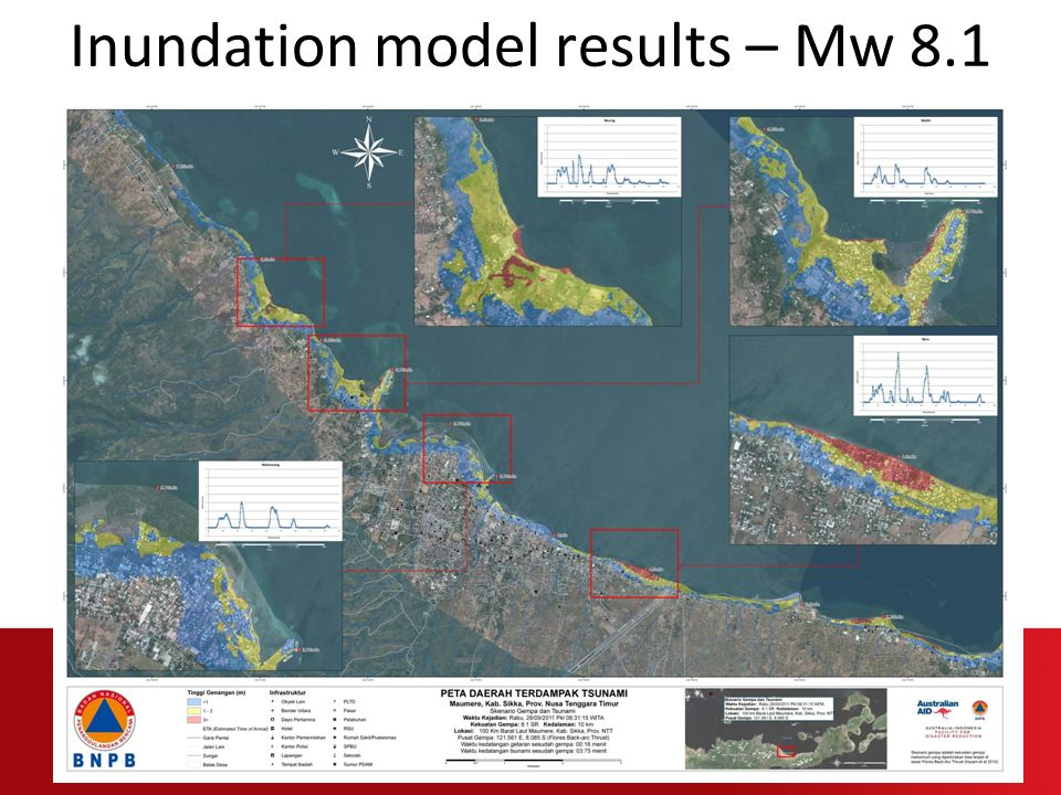 Inundation model results – Mw 8.1
