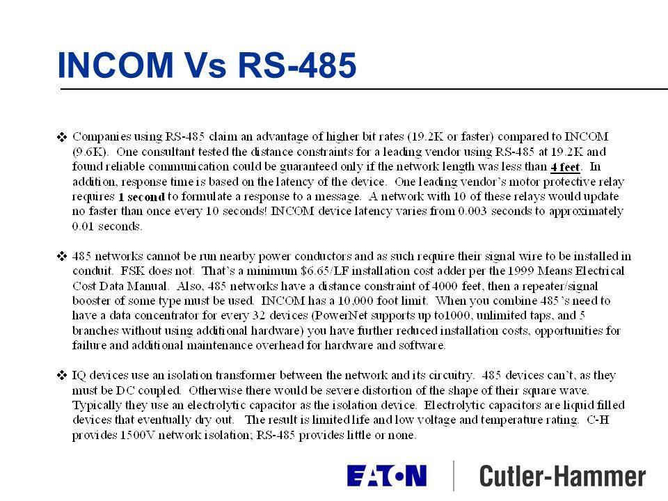 INCOM Vs RS-485