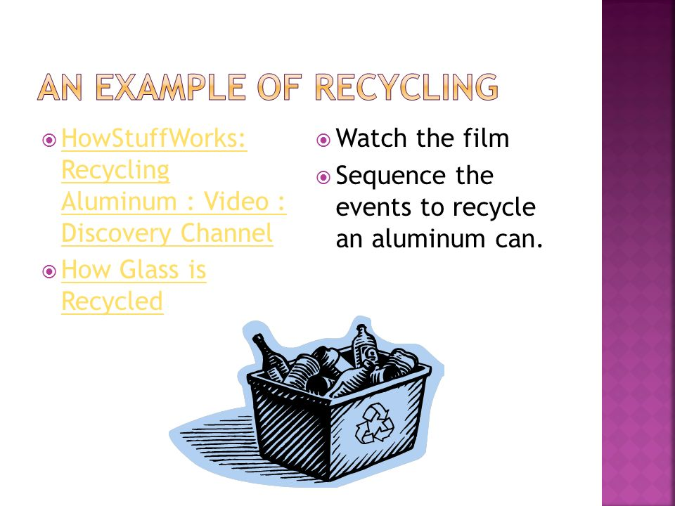 HowStuffWorks: Recycling Aluminum : Video : Discovery Channel HowStuffWorks: Recycling Aluminum : Video : Discovery Channel How Glass is Recycled How Glass is Recycled Watch the film Sequence the events to recycle an aluminum can.