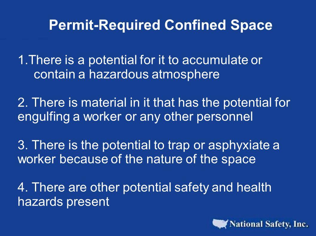 OSHA 1910-146 Confined Space Standard Appendix A
