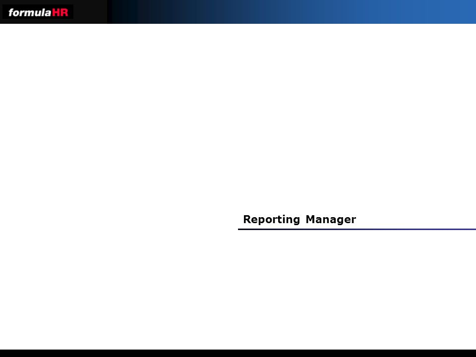 Reporting Manager
