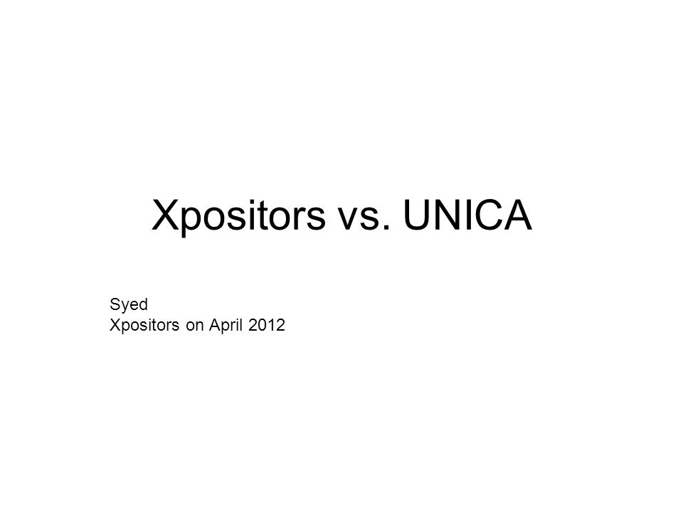 Xpositors vs. UNICA Syed Xpositors on April 2012