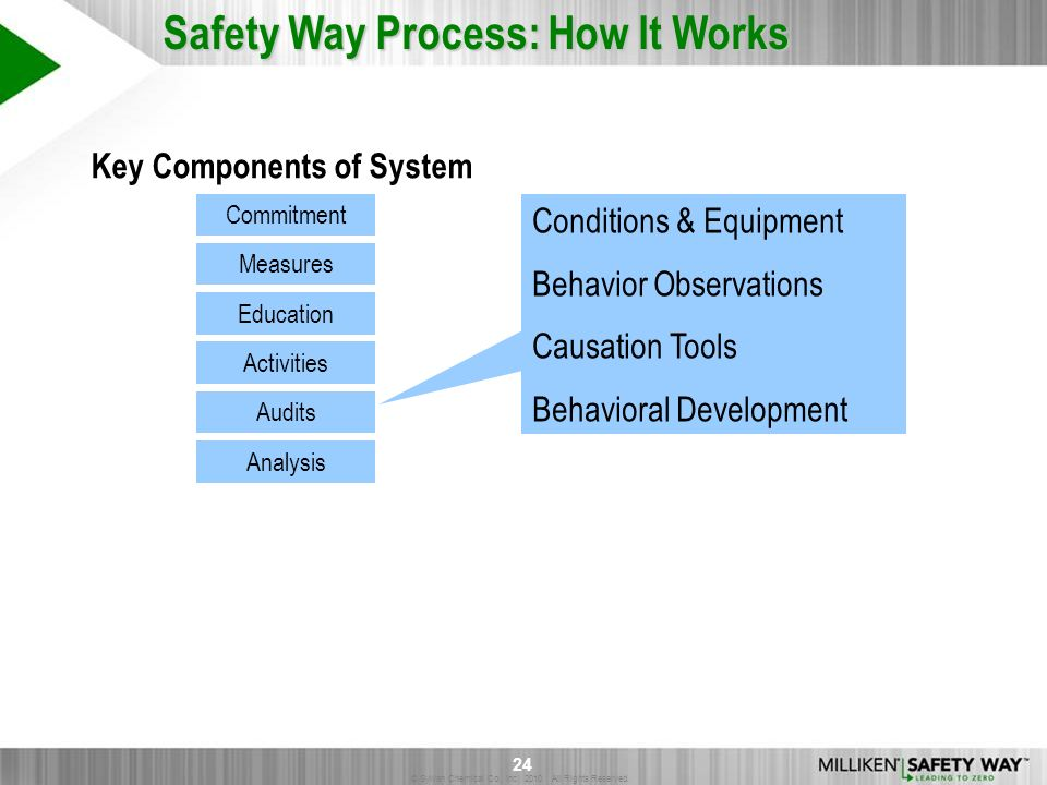 © Sylvan Chemical Co., Inc. 2010. All Rights Reserved. 24 Safety Way Process: How It Works Commitment Education Audits Measures Activities Analysis Co