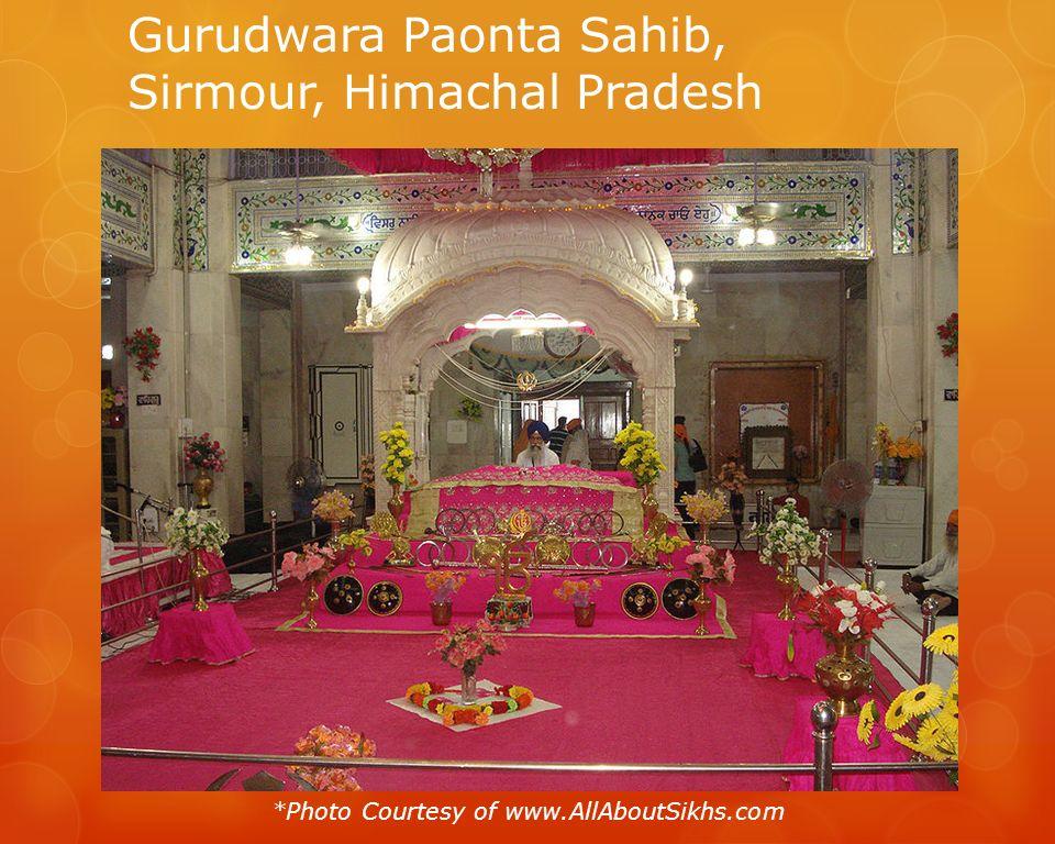Gurudwara Paonta Sahib, Sirmour, Himachal Pradesh *Photo Courtesy of www.AllAboutSikhs.com